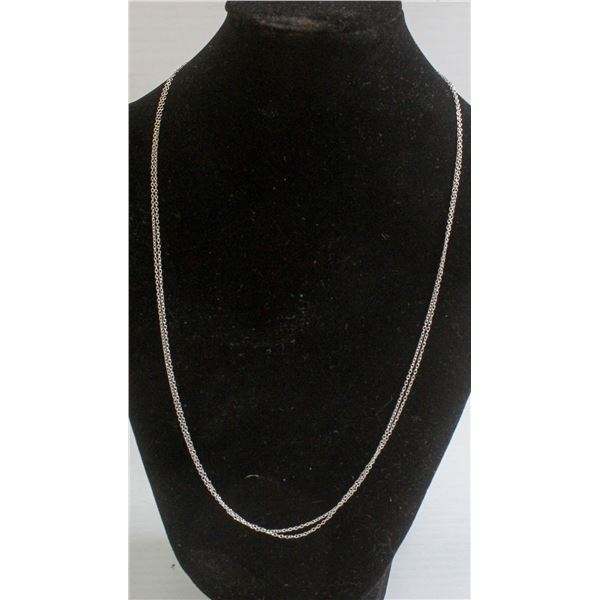 """#343-STERLING SILVER NECKLACE 18"""" 2pcs"""
