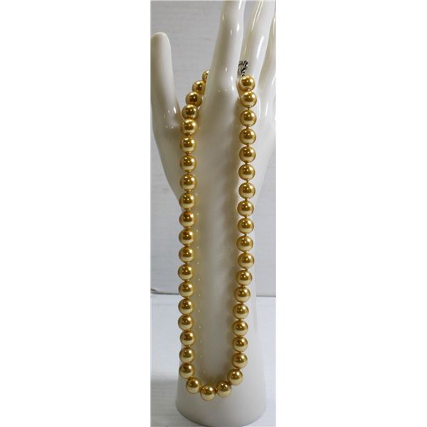 """#290-SEA SHELL PEARL NECKLACE 16""""/10mm"""