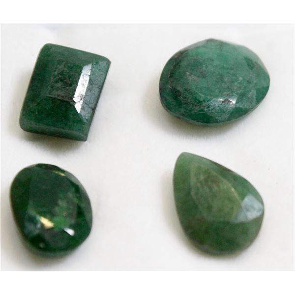 #151-GREEN EMERALD GEMSTONES 14.70ct