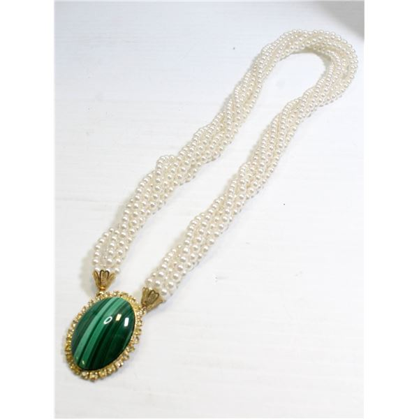 """18"""" MULTI STRAND PEARL STYLE LADIES NECKLACE"""