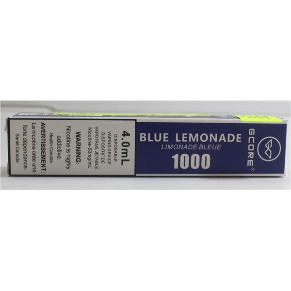 ONE G-CORE 1000 PUFFS E-CIG BLUE LEMONADE 5%