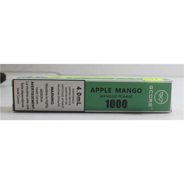 ONE G-CORE 1000 PUFFS E-CIG APPLE MANGO 5%