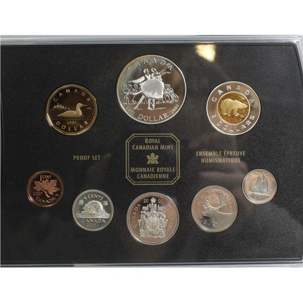 2001 PROOF SET CANADIAN CURRENCY