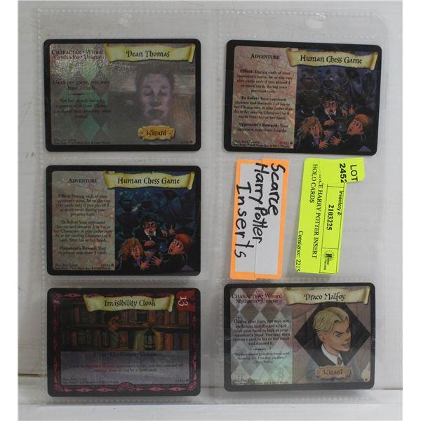SCARCE HARRY POTTER INSERT HOLO CARDS