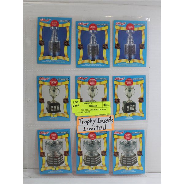 LIMITED KELLOGS NHL TROPHY INSERT CARDS