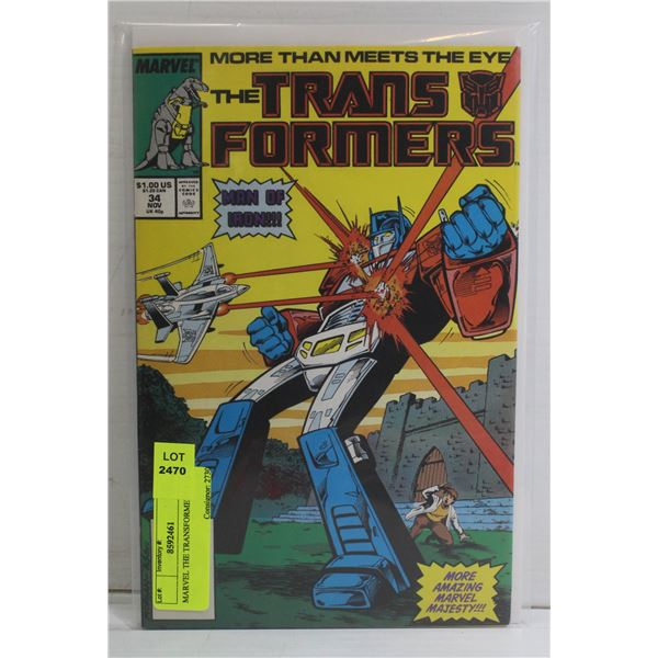 MARVEL THE TRANSFORMERS # 34