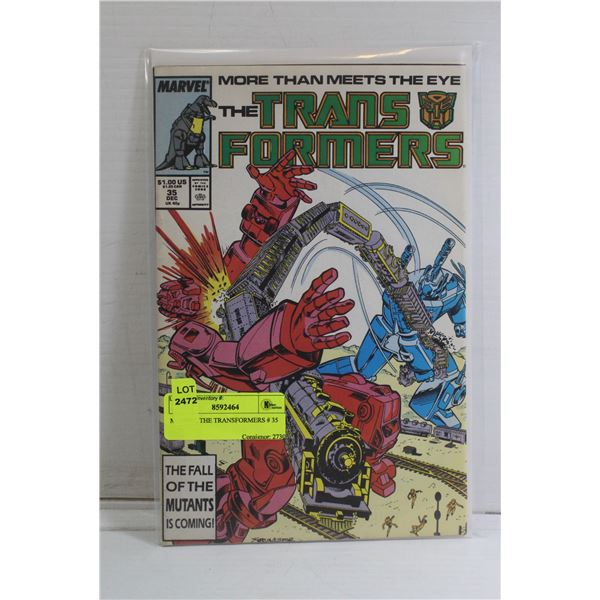 MARVEL THE TRANSFORMERS # 35