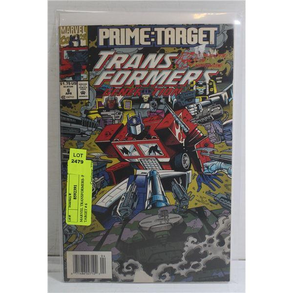 MARVEL TRANSFORMERS- PRIME TARGET # 6