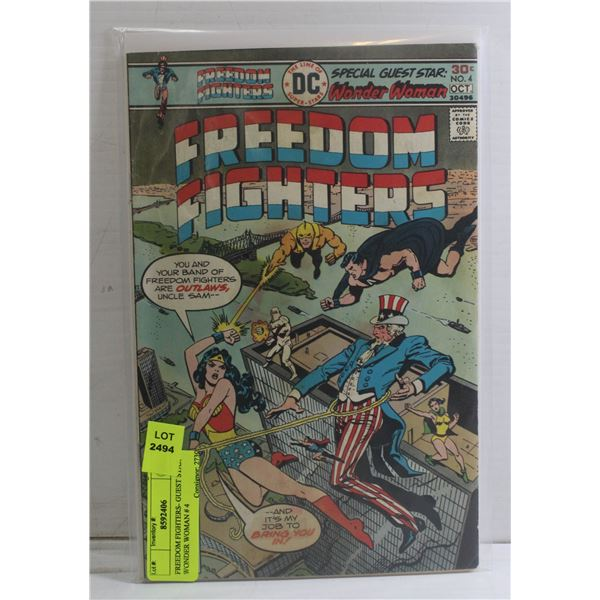FREEDOM FIGHTERS- GUEST STAR WONDER WOMAN # 4