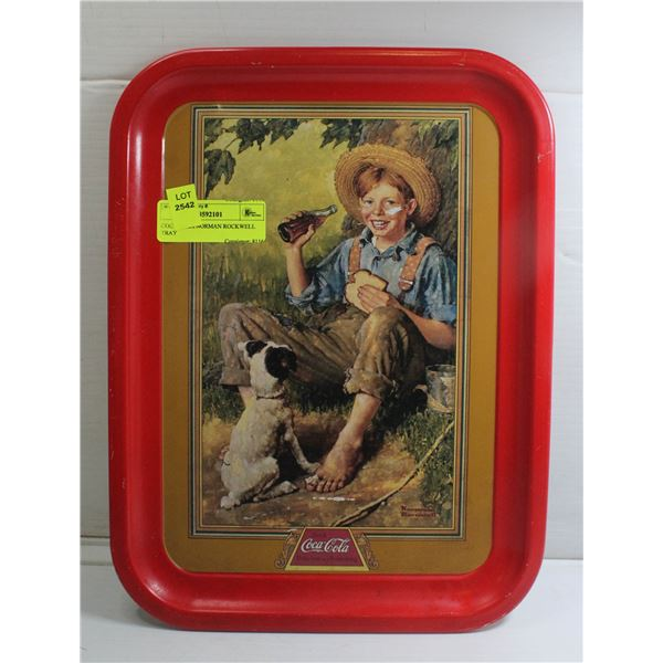COCA COLA NORMAN ROCKWELL TRAY