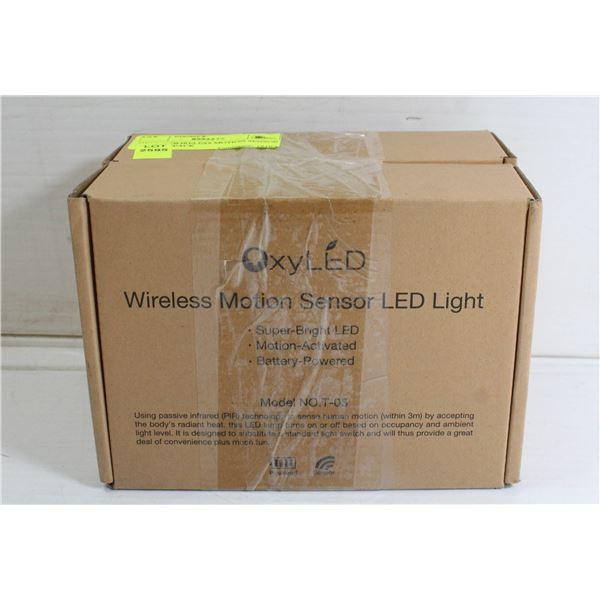 OXYLED WIRELESS MOTION SENSOR LIGHT - 2 PACK