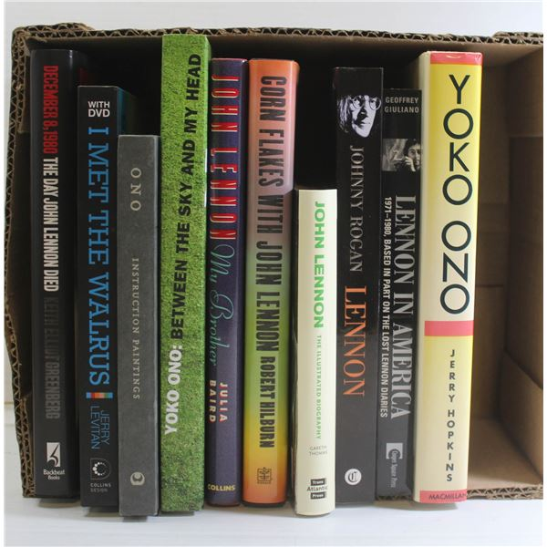 BOOKS ABOUT JOHN LENNON AND YOKO ONO (10 IN
