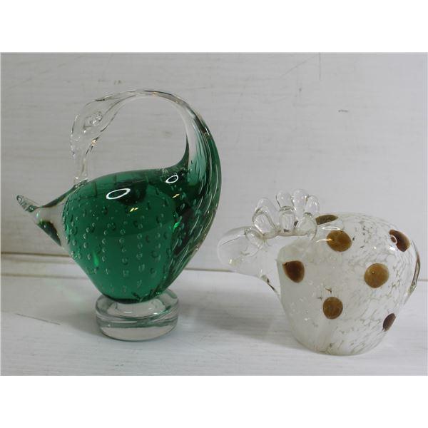 LOT OF MURANO ART GLASS - GOOSE & MOOSE DCOR