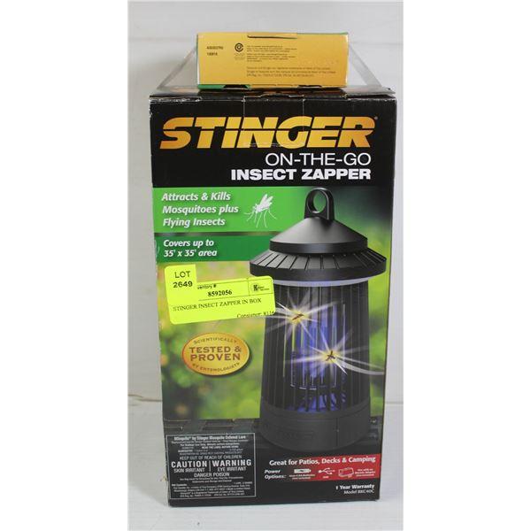STINGER INSECT ZAPPER IN BOX