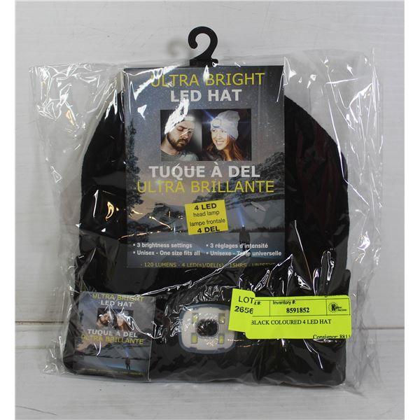 BLACK COLOURED 4 LED HAT