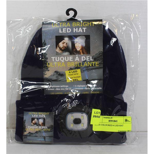 BLUE COLOURED 4 LED HAT