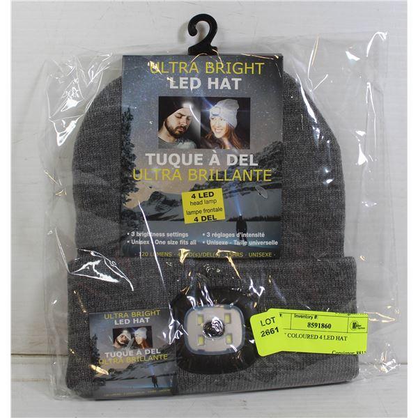 GREY COLOURED 4 LED HAT