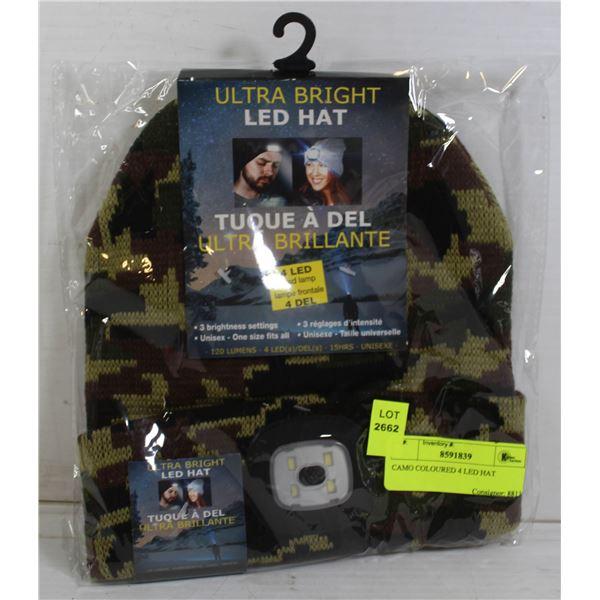 CAMO COLOURED 4 LED HAT
