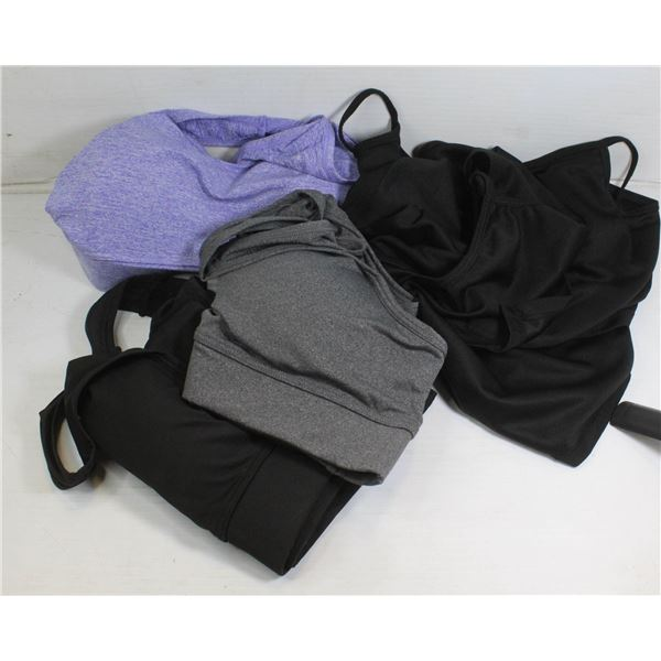 BAG OF NEW LONG FACE MASKS AND BRAS