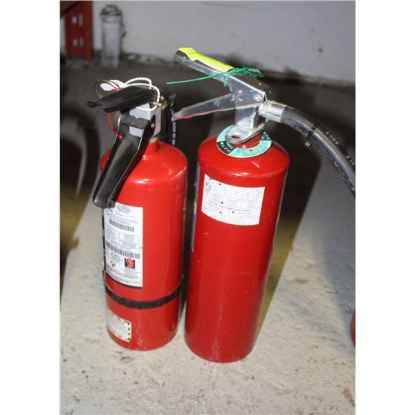 LOT 2 CHARGED 5-7LBS FIRE EXTINGUISHERS