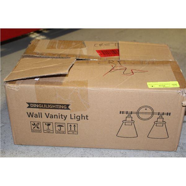BLACK FINISH WALL VANITY LIGHT