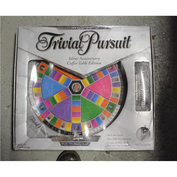 SILVER ANNIVERSARY TRIVIA PURSUIT XLARGE IN BOX