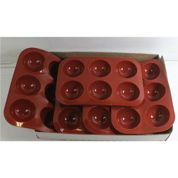 SET OF 8 SILCONE CHOCOLATE BOMB MOLDS