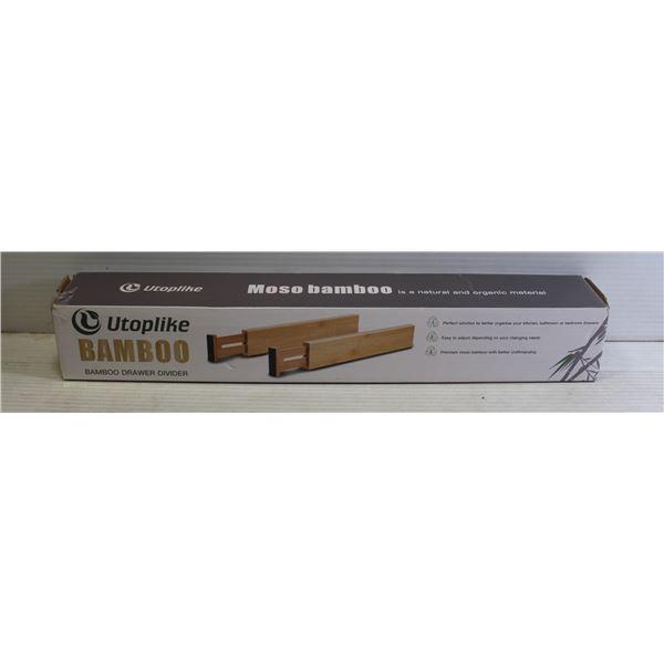 UTOPLIKE BAMBOO DRAWER DIVIDERS - 2 PACK