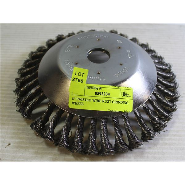 """8"""" TWISTED WIRE RUST GRINDING WHEEL"""