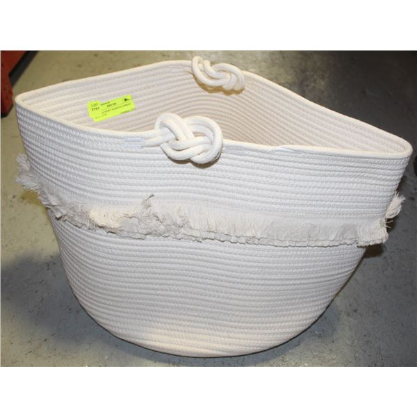 """ROPE LAUNDRY BASKETS APPROX W-23"""" H-16"""""""