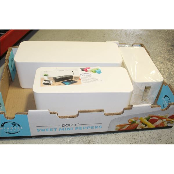 SHELL KINGDOM CABLE MANAGEMENT BOX SET