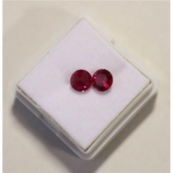 #159-RED RUBY ROUND GEMSTONES 2.00ct