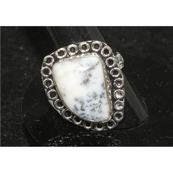 #118-DENTRIC OPAL RING SIZE 8