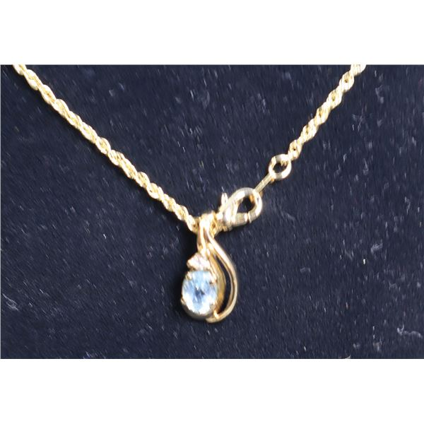 """18"""" LADIES FASHION NECKLACE WITH INSET STONES"""