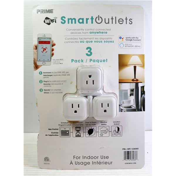 PACK OF 3 SMART OUTLETS