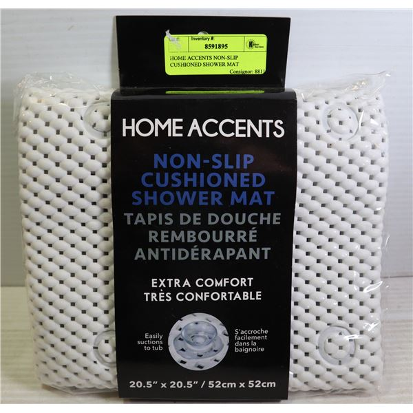 HOME ACCENTS NON-SLIP CUSHIONED SHOWER MAT