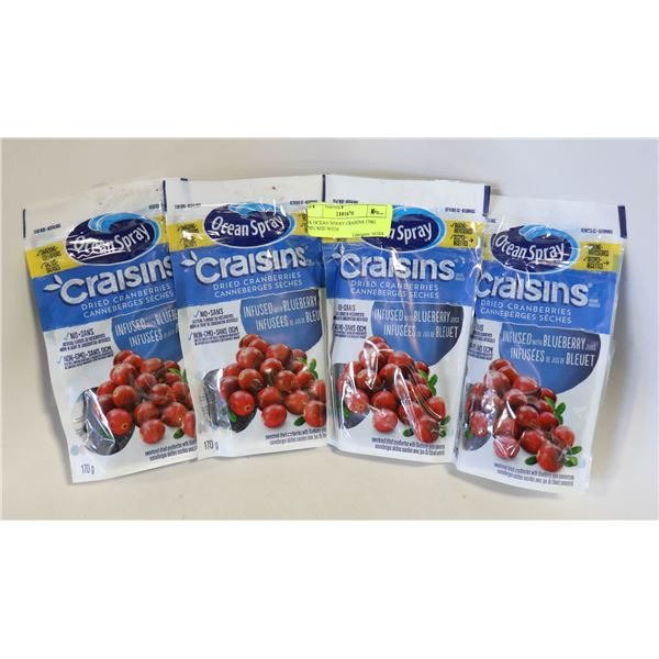 4X OCEAN SPRAY CRAISINS 170G INFUSED WITH