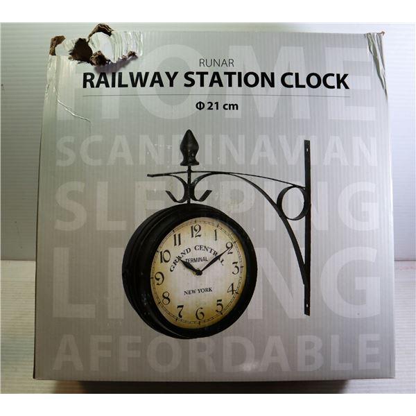 JYSK RAILWAY STATION WALL CLOCK