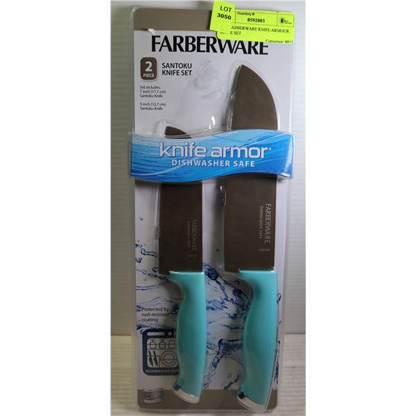 2PC FARBERWARE KNIFE ARMOUR KNIFE SET
