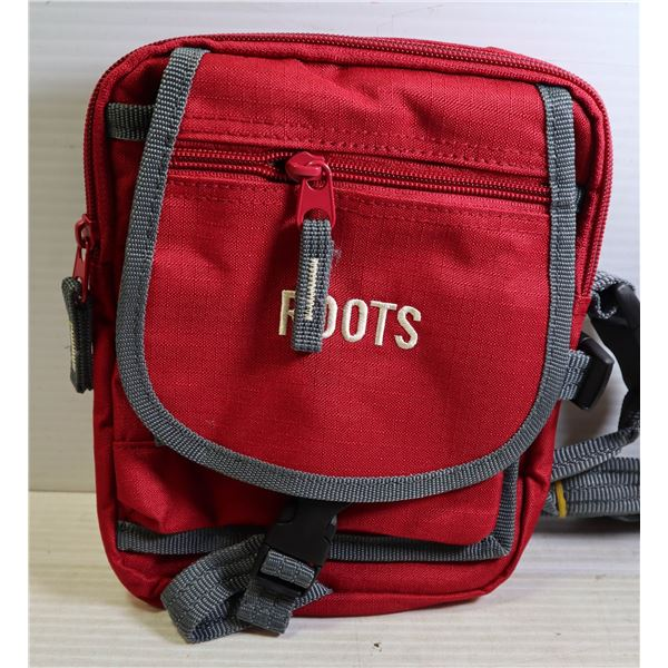 BRAND NEW ROOTS RED GADGET BAG
