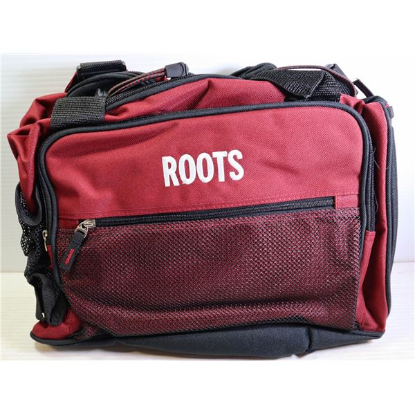 BRAND NEW ROOTS RED SPORTS BAG
