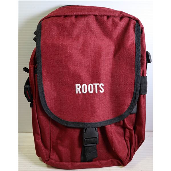 BRAND NEW ROOTS RED STADIUM BAG