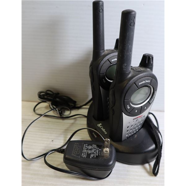 COBRA HAND HELD WALKIE TALKIES WITH CHARGER