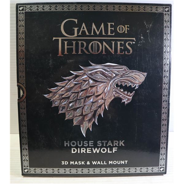 GAME OF THRONES 3D MASK AND WALLMOUNT SET