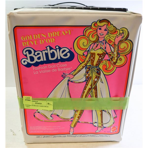 BARBIE STORAGE CASES FROM 1980'S