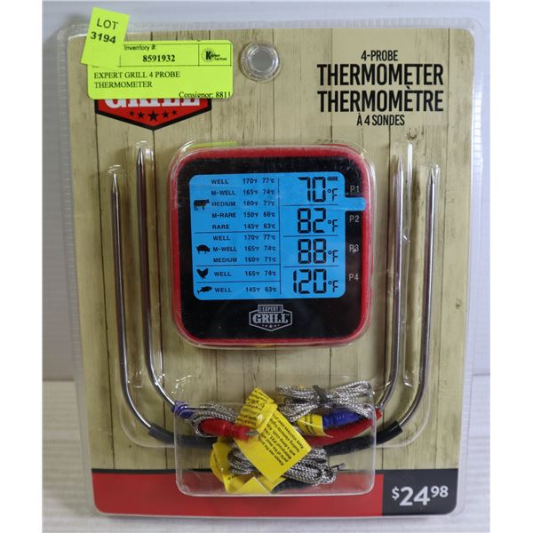 EXPERT GRILL 4 PROBE THERMOMETER