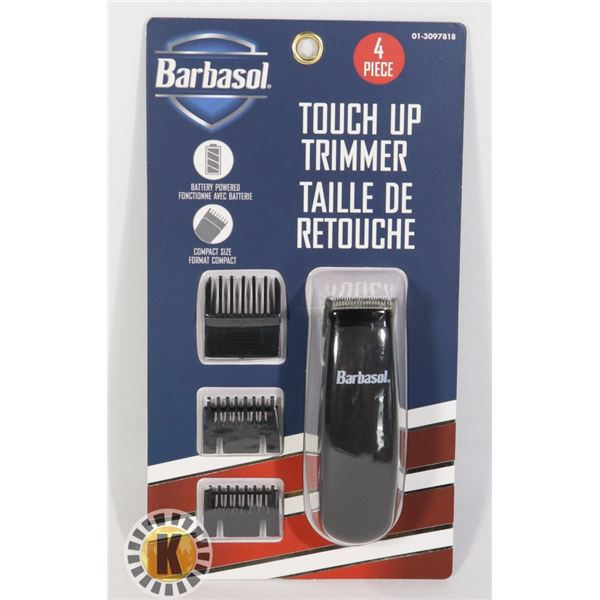 NEW BARBASOL 4PC TOUCH UP TRIMMER SET