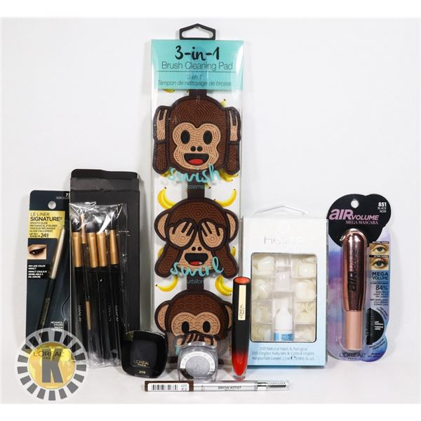 NEW COSMETIC LOT. INCLUDES SOME L'ORÉAL PRODUCTS.