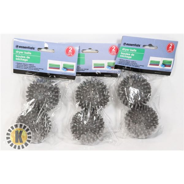 3 NEW 2PACK DRYER BALL SETS