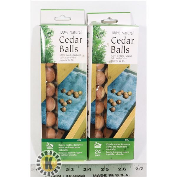 TWO NEW PACKAGES OF CEDAR BALLS
